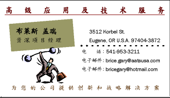 Chinese Business Cards - Chinese business card translation